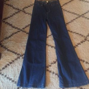 Denim - Abercrombie and Fitch wide leg jeans.